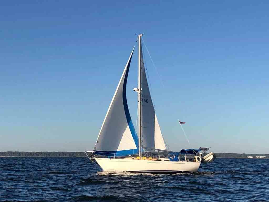 Spartan at sail.
